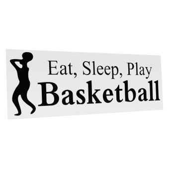 Makan Tidur Maen Basket Stiker Dinding Vinil Stiker Rumah Seni Dekorasi Kamar Anak Baru-Internasional