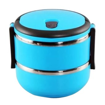 Eco Lunch Box Stainless Steel Rantang 2 Susun - Blue
