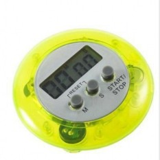 Electronic Kitchen Timer Round Portable Food Baking Timer (Yellow)