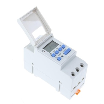 Electronic Switch Mingguan Programmable Digital Switch Relay Timer Controller (Putih) -12 V