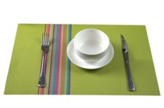 Eozy Rainbow PVC Cup Coasters 45*30 Insulation Table Place Mats Kitchen Mats Set Of 4 (Green) (Intl)