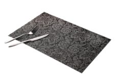 Eozy Table Mats Insulation PVC Pads 45*30 Kitchen Coasters Dinner Placemats Set Of 4 (Black) (Intl)