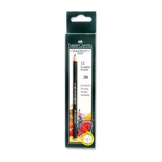 Faber-Castell 2B Pencil Castell 9000 - 12 Pcs (Black)