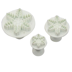 Fang Fang Sugarcraft Cake Fondant Decorating Mold Mould Snowflake Plunger Cutter (White)