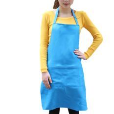 Fashion Light Polyester Kitchen Apron For Women (Blue)