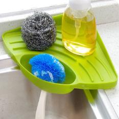 Fashion Triangle Shelf Kitchen Sink Dish Drain Rack Bathroom SOAP Sponge Holder Green
