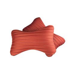 Feimu 1 Pair Elegant Car Seat Head Neck Rest Cushion Pillow Headrest (Orange)