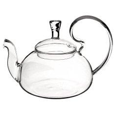 Filter Transparent Glass Flower Tealeaf Teapot Heat Resistant Infuser 800ml - Intl
