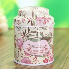 Flower Metal Sugar Coffee Tea Tin Jar Container Candy Sealed Cans Box 03 - Intl