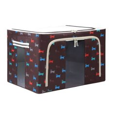Foldable Non-Woven Fabrics Room Bag Clothes Blanket Storage Box Toys Organizer Brown (Intl)