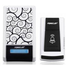 Forecum Digital Wireless Remote Alarm Doorbell LED 36 Tunes - Hitam