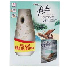 Glade Automatic 3 in 1 wangi Ocean Escape Warna hijau