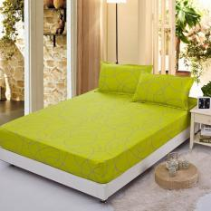GoGoLife Soft Fitted Bed Sheet-33# Green