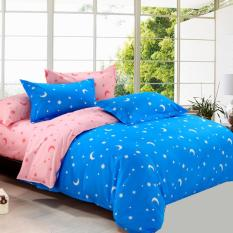 GoGoLife Two-tone Star&Moon Quilt Cover All Size-31-2# Blue