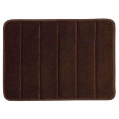 Gracefulvara 40x60cm Memory Foam Bath Mat Absorbent Non-Slip Pad Bathroom Mats – Coffee