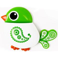 Gracefulvara Creative Bird Design Toothbrush Holder Wall Suction Cup Bathroom Organizer Storage - Green (Intl)