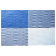 Gracefulvara Placemats Fashion PVC Insulation Plaid Dining Table Mats Pad Coaster - Blue (Intl)