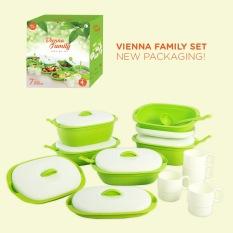 Greenleaf New Vienna Family Set 7PC + Gratis 4 Gelas