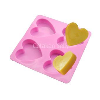 Griya Cetakan Sabun Med Heart 4 cavity - Pink
