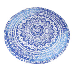 Handloom Indian Mandala Round Roundie Beach Throw Tapestry Hippy Hippie Gypsy Cotton Tablecloth Beach Towel, Round Yoga Mat
