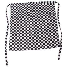 LALANG Men's Women's Kitchen Grid Aprons Restaurant Chef Black and White