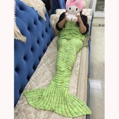 Hanyu Ekor Putri Duyung Mermaid Rajut Selimut Untuk Anak Selimut Bayi Sofa Ruang Tamu Kamar Tidur