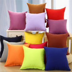 Hanyu selimut bantal Sofa polos persegi kotak merah - International
