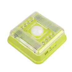 HAOFEI Superbright 8 White Light AUTO PIR Light Infrared Lamp (Green)