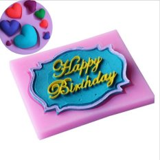 Happy Birthday Letter Cake Mold And Love Heart Shape Silicone Fondant Soap Mold Cake Card Shape Fondant Cake Mould - Intl