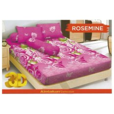 HG Sprei kintakun Dluxe 180 x 200 cm motif us Rosemine 3D
