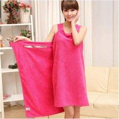 High Water Absorption Women's Wearable Bath Towel 150*85CM Bathrobe Spa Fast Dry Washclothing Wrap Towel Pink