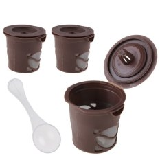 HKS 3 x Reusable Single Cup Solo Filter Pod K-Cup Coffee Stainless Mesh Percolator (Intl)
