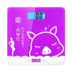 HKS The Scale Of Household Electronic Scale Electronic Scale Precision Weighing Scale Ultra-Thin Body Balance The Scales Health (Purple) (Intl)