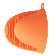 HL 2016 New Heat Resistant Silicone Gloves Heat Insulation Microwavehot Set Protective Hand Clip Kitchen Glove (Orange)