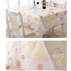 HL Home Kitchen Outdoor Picnic Pink Dots Pattern Pvc Waterproofanti-Oil Tablecloth Table Mat
