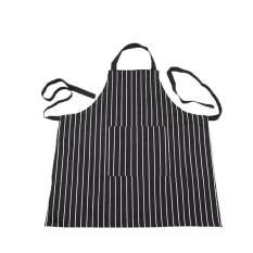 HL Kitchen Baking Ware Zebra Chalk Stripes Bib Apron Withpockets