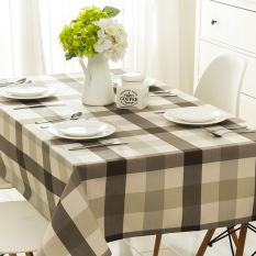 HL Nordic Table Waterproof Lattice Table Cloth Cotton Fabric Clothrectangular Desk Modern Mini Malist Art Tablecloths 90*90 CM