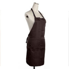 HL Solid Unisex Aprons With Front Pocket (Coffee)