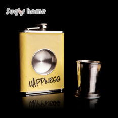 Hot Sale Personality SHOT Flask 1pc 8 Oz Food Grade Stainless Steel Hip Flask Drinkware Alcohol Liquor Whiskey Bottle Gifts - Intl