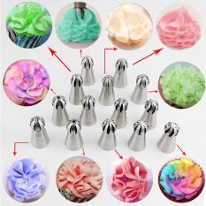 Hottest 1pc Bakeware Sphere Ball Shape Cream Stainless Steel Icing Piping Nozzles Pastry Tips Cupcake Buttercream Bake ToolᄀᆰPattern #4 - Intl