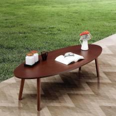 iFurnholic Surf Oval Coffe Table 150 - Coklat Tua - Meja Tamu