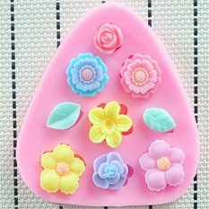 ILife HSE HOT Flowers Silicone Mold, Fondant Cake Decorating Tools, Silicone Cake Mold, Kitchen Accessories Stencil Pink