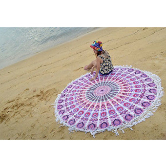 Indian Vintage Round Tapestry Wall Hanging Beach Throw Towel Yoga Mat Boho Decor - Intl