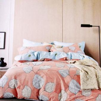 ISTANAKU Set Bedcover Dan Seprei Pandora Peach 180x200