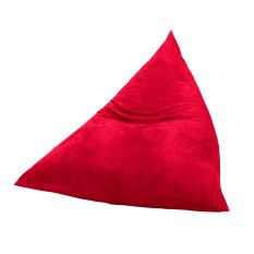 JCo Cover Bean Bag sofa lounge suede - Red
