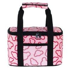 JIANGYUYAN Cloud Waterproof Picnic Insulated Lunch Cooler Tote Bag Travel Zipper Organizer Box, Pink (Intl)