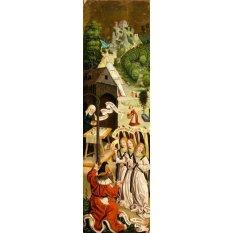 Jiekley Fine Art - Lukisan Abraham And The Three Angels Karya Jan Polack - 1500