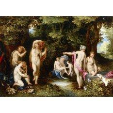 Jiekley Fine Art - Lukisan Diana and Actaeon Karya Jan Brueghel the Elder - 1600