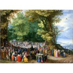 Jiekley Fine Art - Lukisan The Sermon on the Mount Karya Jan Brueghel the Elder - 1598