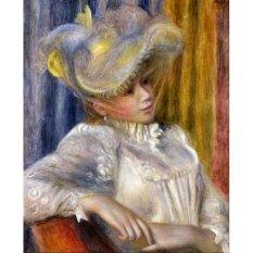 Jiekley Fine Art - Lukisan Woman with a Hat Karya Pierre Auguste Renoir - 1891